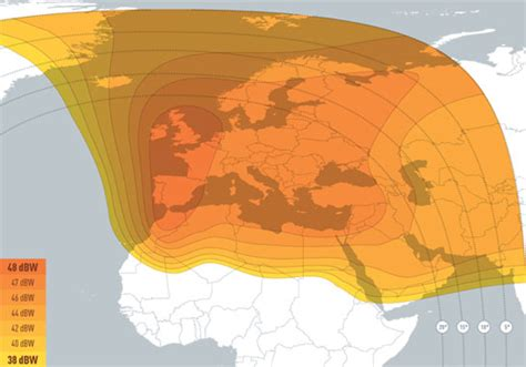 satellite eutelsat 5 west a zones de couverture
