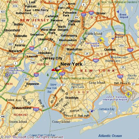 map of new york area empire state of mind