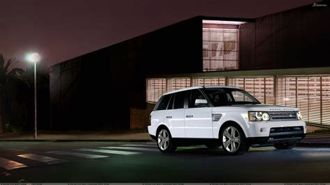 white range rover wallpaper 2010 range rover sport white in night pose wallpaper