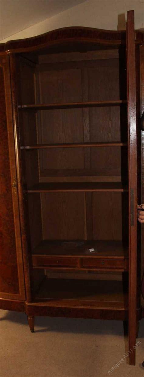 3 door antique armoire antiques atlas walnut french 3 door armoire with burr walnut