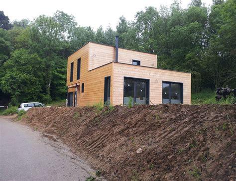 Maison Cube Bois Prix 3232 maison bois cubique 224 toit plat nos maisons ossatures bois
