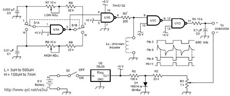 how to make simple inductance meter rf circuits circuitos de rf littlesoft electronics