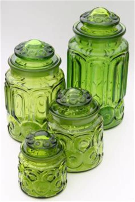 Green Deco Canister pantry storage canisters spice jars
