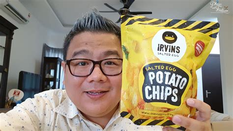 Irvins Salted Egg Fish Skin Large Ready Not Golden Duck Blue Duck irvins salted egg potato chips singapore review