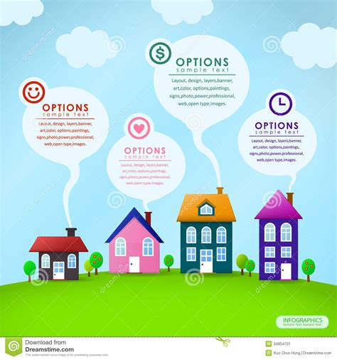 modern home design vector abstract house infographics design stock image image