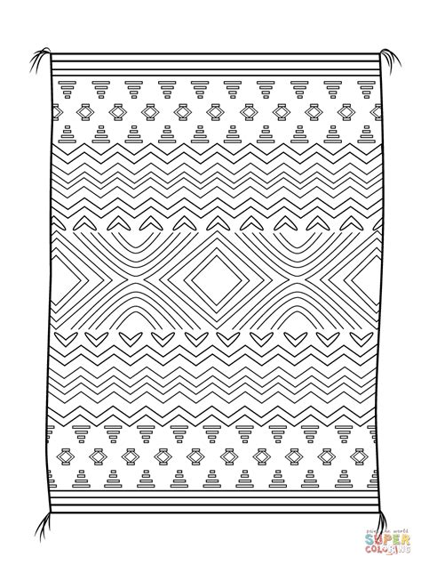 Home Designing Online Games by Navajo Blanket Coloring Page Free Printable Coloring Pages