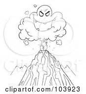 composite volcano coloring page outline volcano
