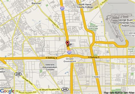 comfort directions map of comfort inn greenspoint houston