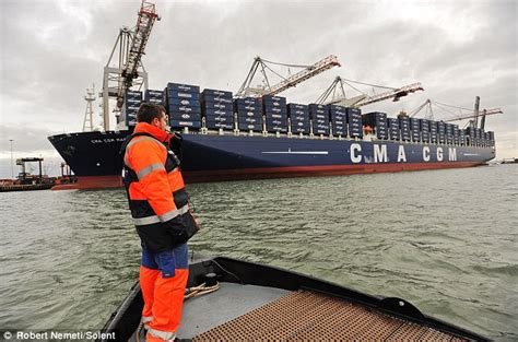 mail boat definition world s largest container ship at 396m long arrives in