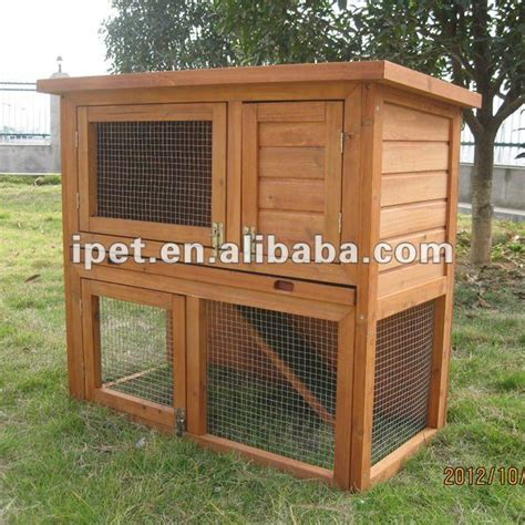 Outdoor Plastic Rabbit Hutch cheap 3ft outdoor 2 story wooden rabbit hutch with plastic tray view rabbit hutch ipet product