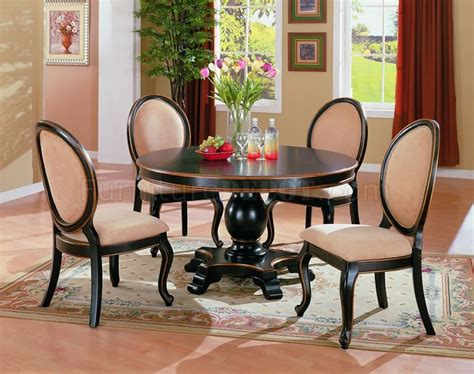 Round Dining Room Sets by Two Tone Elegant Dining Room Set With Round Table