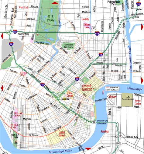 map new orleans road map of new orleans new orleans louisiana aaccessmaps