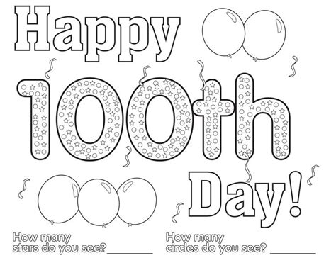 free 100th day coloring sheets download them today for