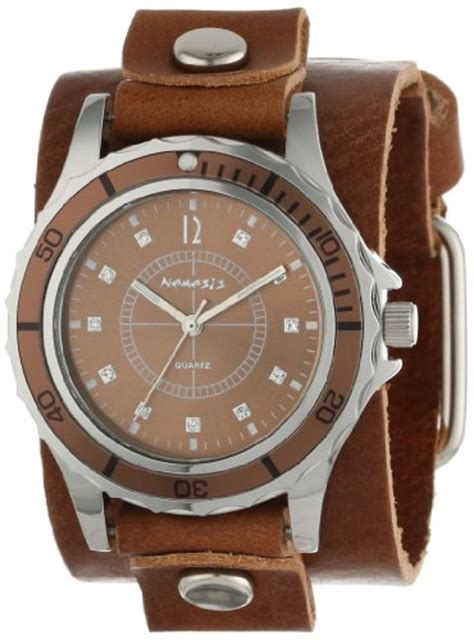 Swiss Army 1153 3time Rg White Brown Leather nemesis s bgb092b brown collection encrusted leather band vit 243 ria ferreira