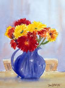 Painting Glass Vases With Acrylic Paint Watercolor Paintings Flowers Gallery Watercolour Flowers