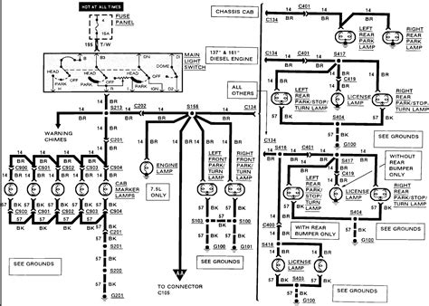 1993 e350 running lights wiring diagram pdf 1993 wiring