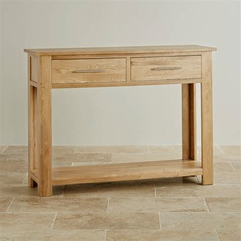 Oak Furniture Land Console Table Rivermead Solid Oak Console Table By Oak Furniture Land