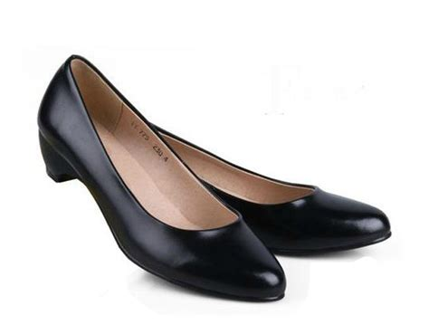 comfortable low heels women s shoes low heels black genuine leather work shoes