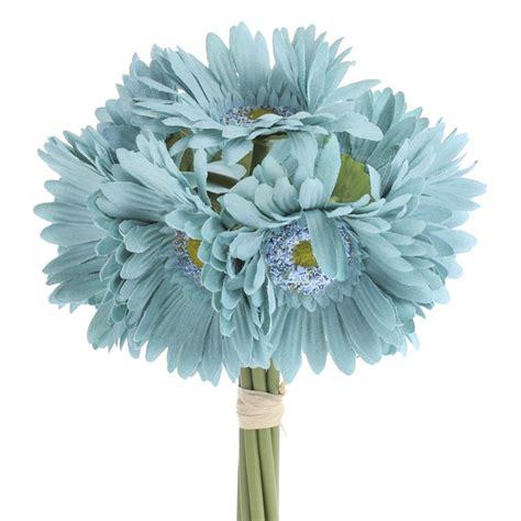 artificial silk flowers gerbera teal teal artificial gerbera daisy bouquet wedding floral