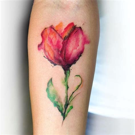 32 best tulip flowers tattoos