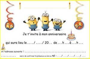 Incroyable Menu D Anniversaire Simple #5: carte-invitation-anniversaire-minions.jpg