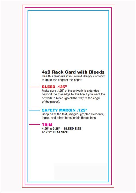rac card template 7 rack card templates
