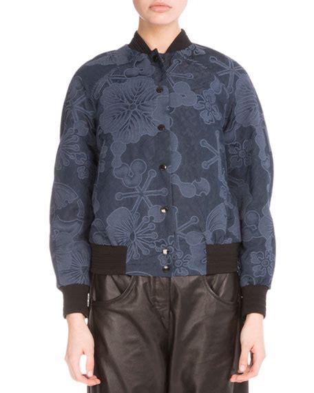 Bomber Flower Navy kenzo tanami flower jacquard bomber jacket navy blue