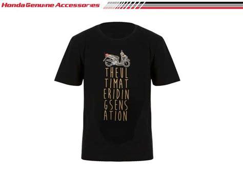 Kaos Honda Tshirt Crx Kaos Hitam vario turs t shirt black merchendise resmi kaos honda