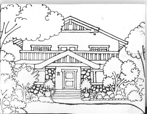 house design coloring pages tcheng house drawing on tile ramonapalomatile s blog