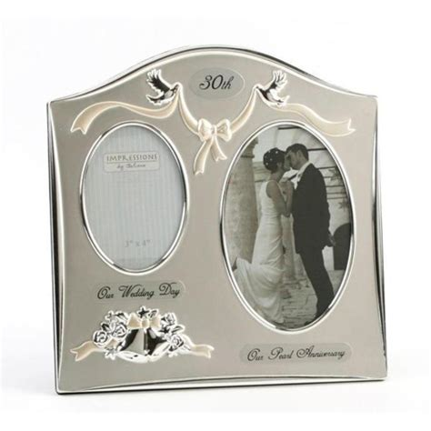 anniversary gifts for 30th wedding anniversary 30th wedding anniversary silver plated photo frame