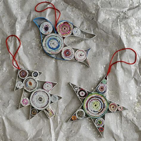 Paper Ornaments - eco friendly craft ideas from magazines
