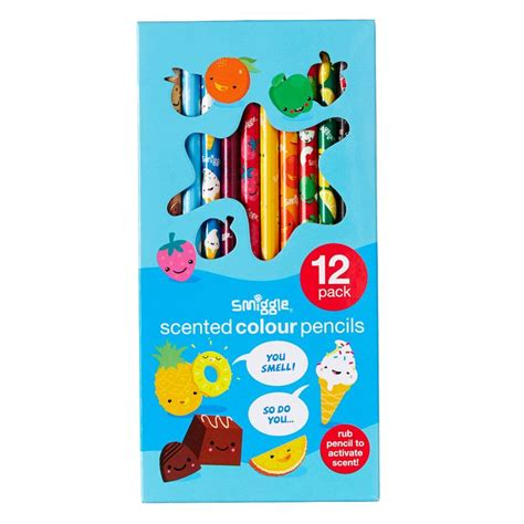 Smiggle Tropicool Topper Pencil image for scented pencil pack x12 from smiggle uk indigo search as and fruit