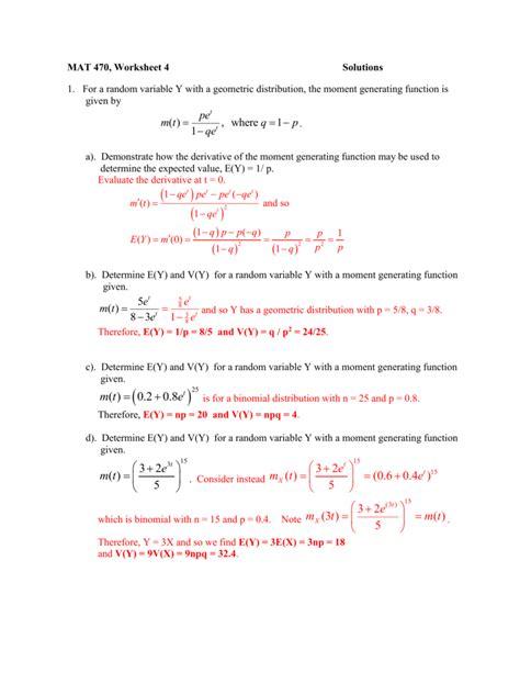 Expected Value Probability Worksheet