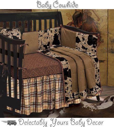 Cowboy Crib Set Baby Bedding Western Cowhide Crib Bedding Is For Your Littlest Cowboy Crib Set Includes A Cowhide