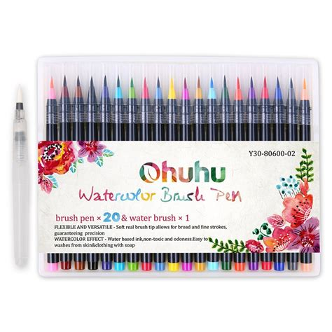 water color pen brush 20 colors watercolor painting marker pens ohuhu soft