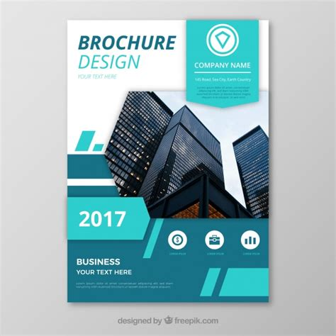 flyer design freepik abstract business flyer with blue elements vector free