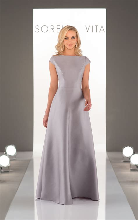 open  bridesmaid dress  high neckline sorella