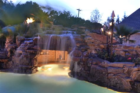 Tiki Bar Decorating Ideas Colleyville Residential Lazy River Tropical Pool