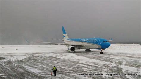 fotos ushuaia invierno fotogaler 237 a nieve en el aeropuerto de ushuaia