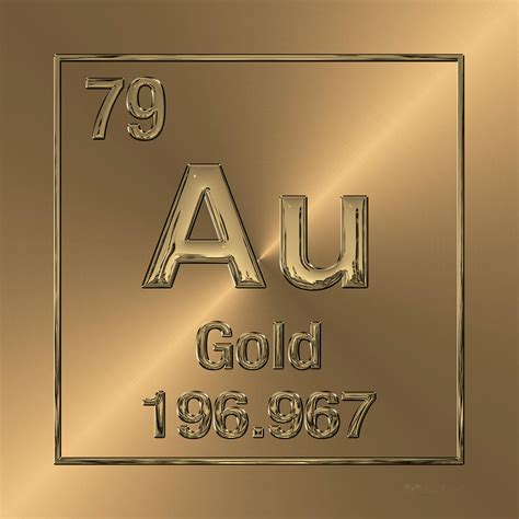 Au On The Periodic Table by Periodic Table Of Elements Gold Au Digital By Serge Averbukh