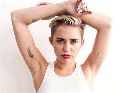 miley gets barbie mini me with pink armpit hair