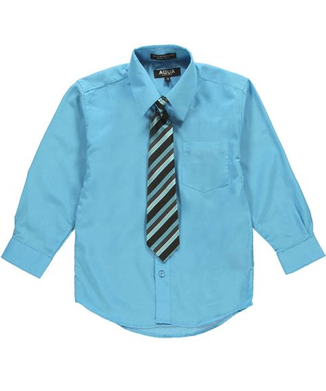 aqua for boys aqua big boys quot zip tie quot dress shirt set 8 20