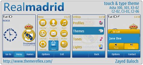 realmadrid themes for nokia c2 real madrid mobile themes themereflex