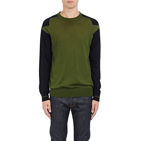 Givenchy Sweater givenchy s colorblocked sweater in green for lyst