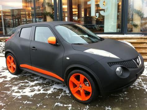 slammed nissan juke nissan juke with matte black orange lowered custom
