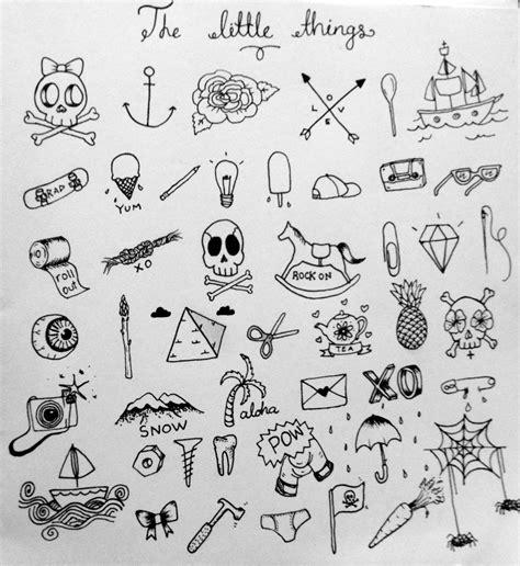 doodle tattoos tiny tattoos skull boat bones needles