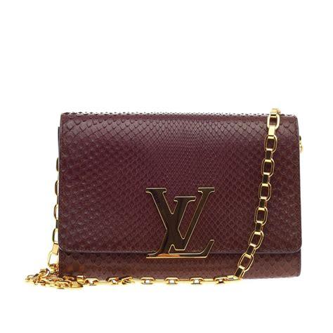 Clutch Louis Vuitton Lv V 4138 Murah louis vuitton chain louise clutch python gm at 1stdibs