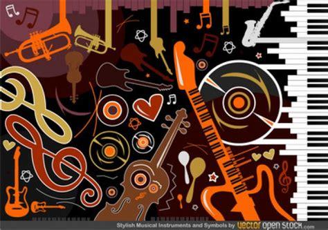 imagenes vectoriales musicales instrumentos musicales de colores con formas descargar