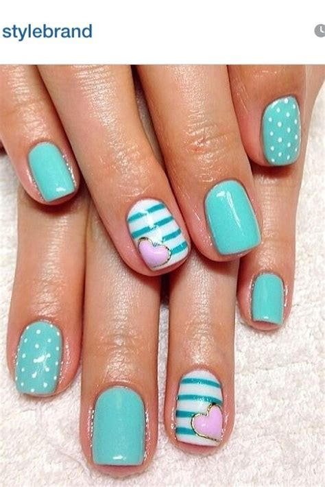 teal gel nail designs 15 teal nail designs turquoise manicures and nail design