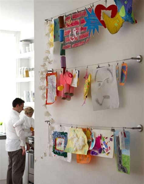 how to hang wall art children s drawings as art the style files